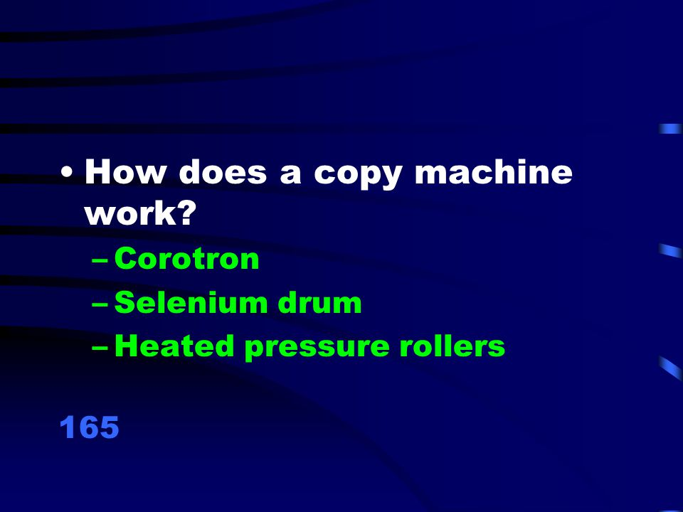 How does a copy machine work