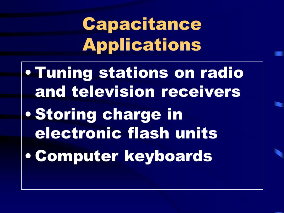 Capacitance Applications