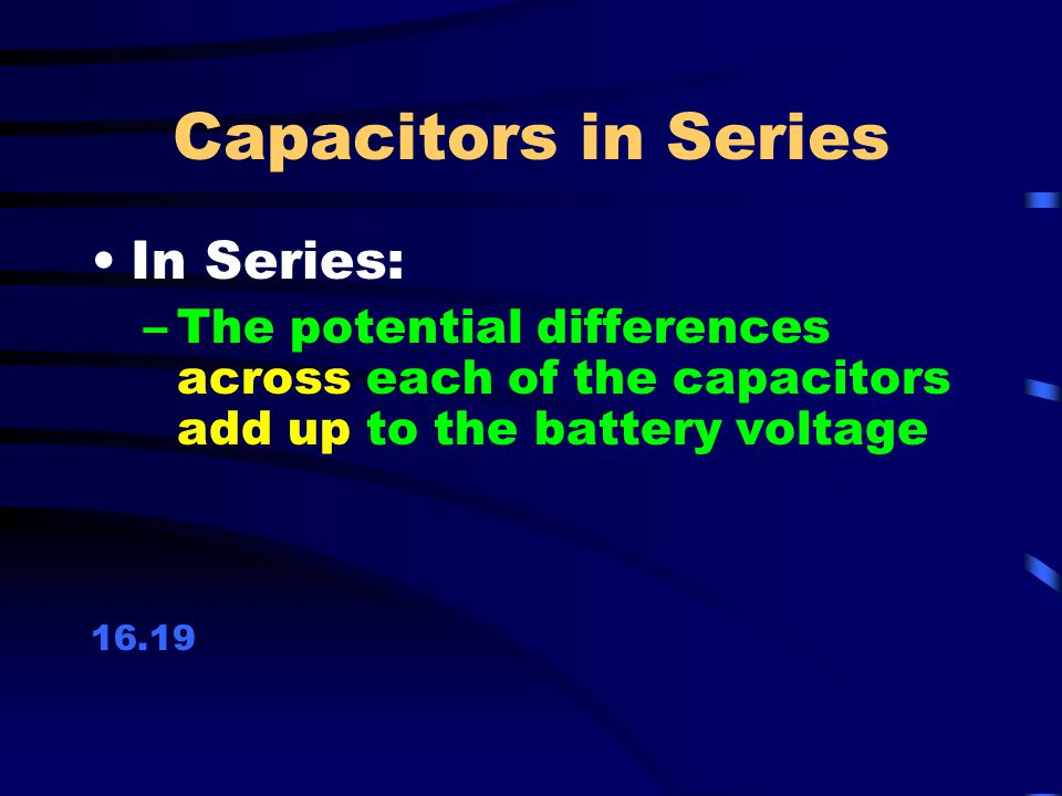 how to find potential difference across each capacitor