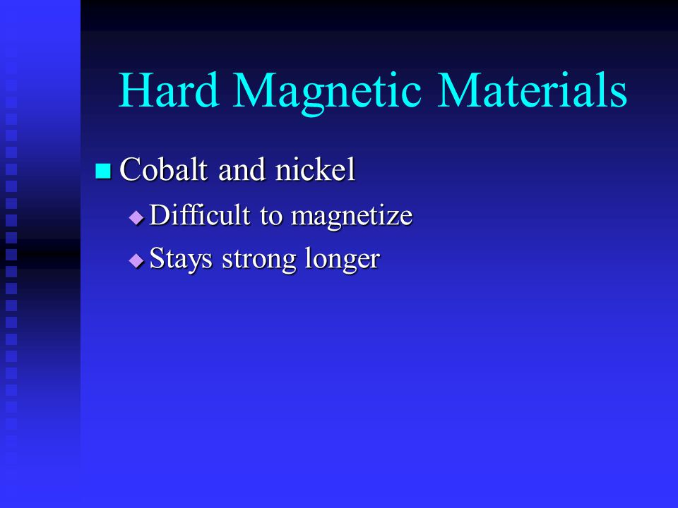 Hard Magnetic Materials