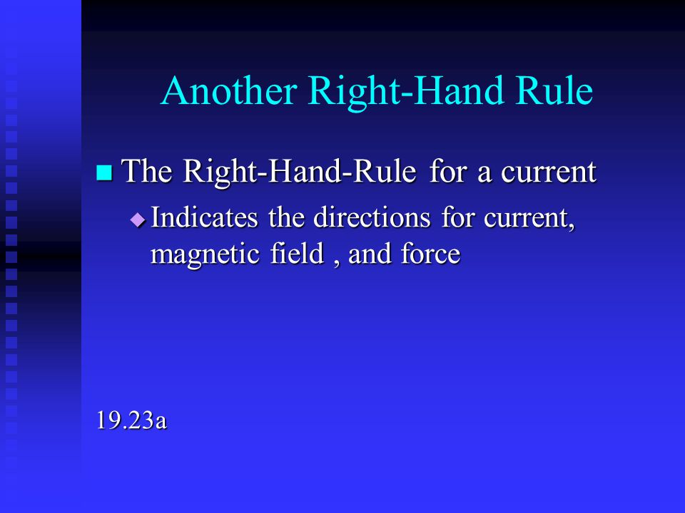 Another Right-Hand Rule