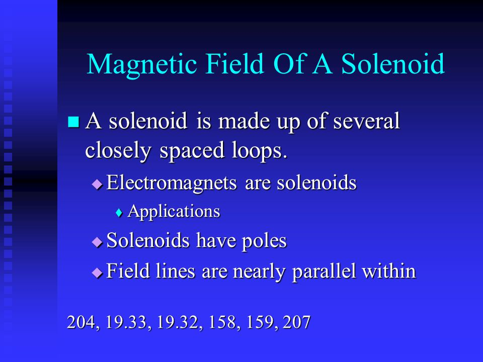 Magnetic Field Of A Solenoid