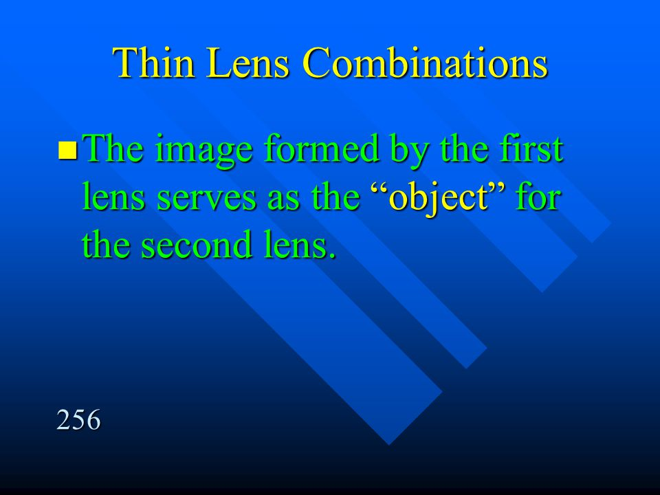 Thin Lens Combinations
