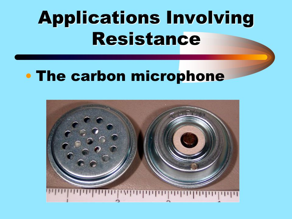 Applications Involving Resistance
