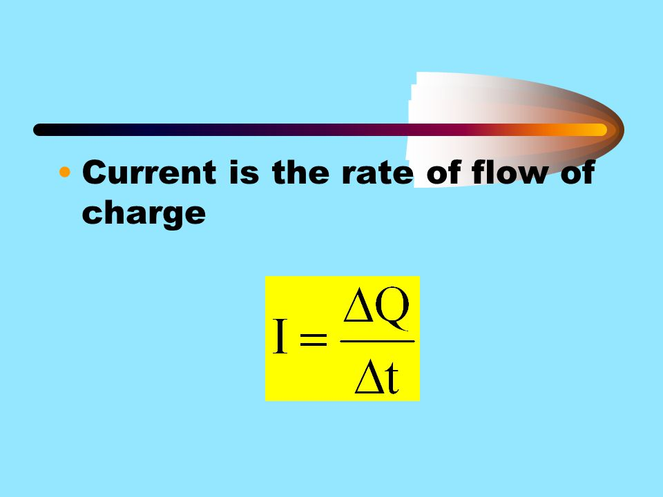 Current is the rate of flow of charge