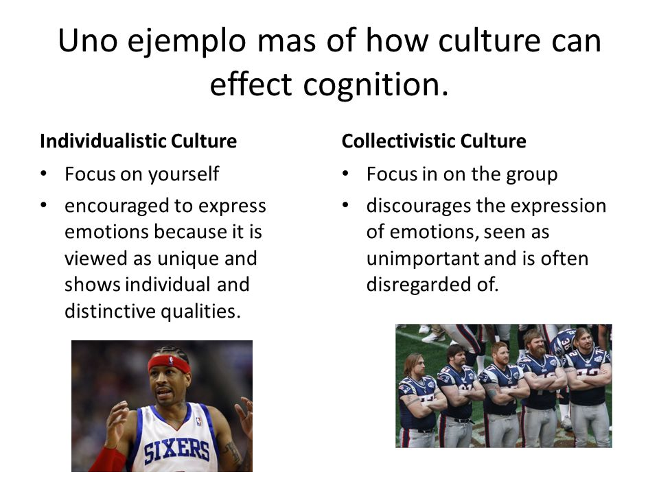 Uno ejemplo mas of how culture can effect cognition.