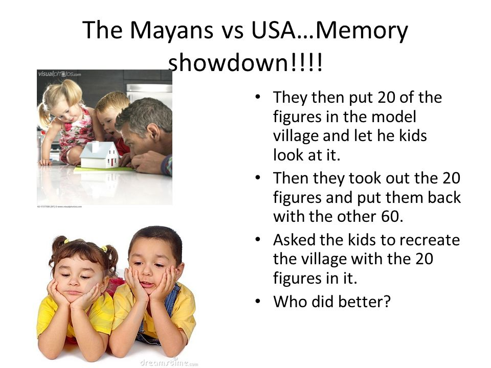 The Mayans vs USA…Memory showdown!!!!