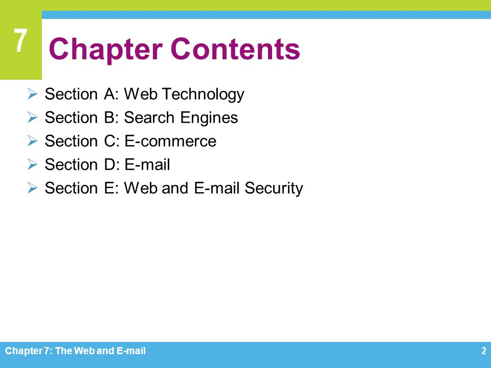 Chapter Contents Section A: Web Technology Section B: Search Engines