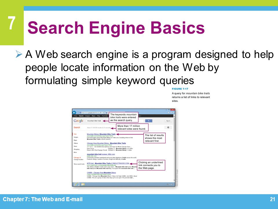Search Engine Basics A Web search engine is a program designed to help people locate information on the Web by formulating simple keyword queries.