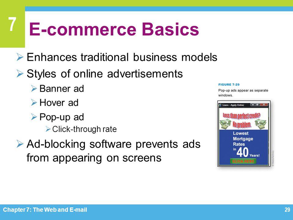 E-commerce Basics Enhances traditional business models