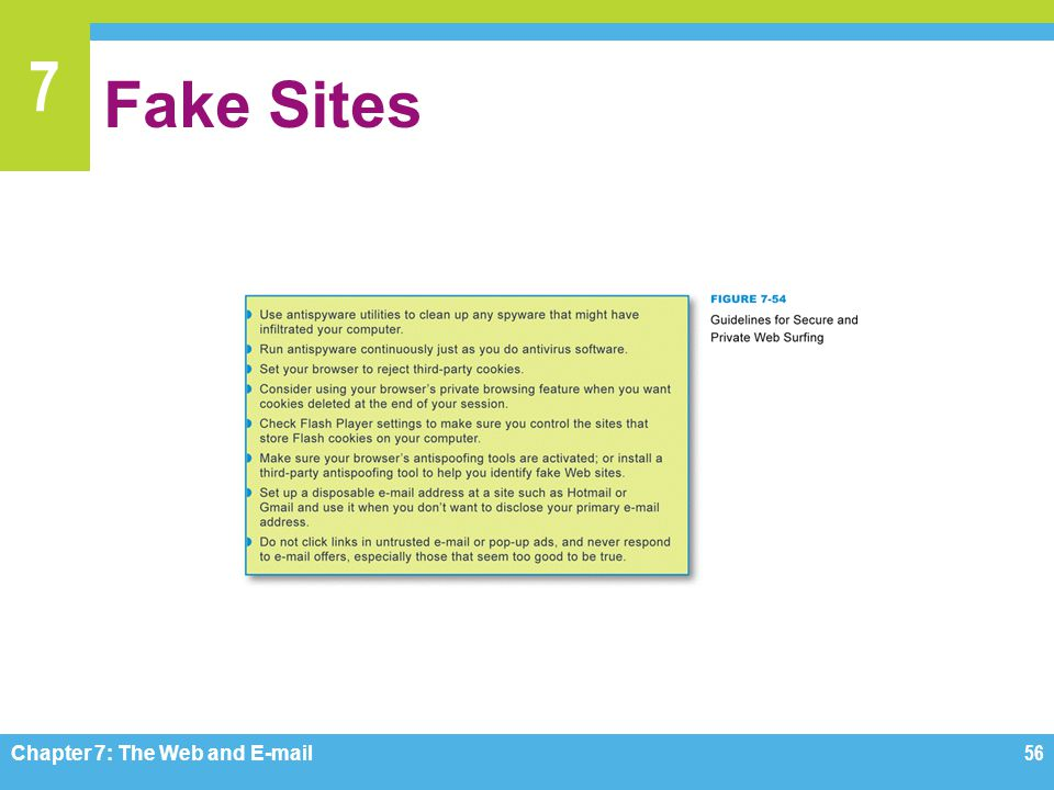 Fake Sites Figure 7-54 Chapter 7: The Web and E-mail