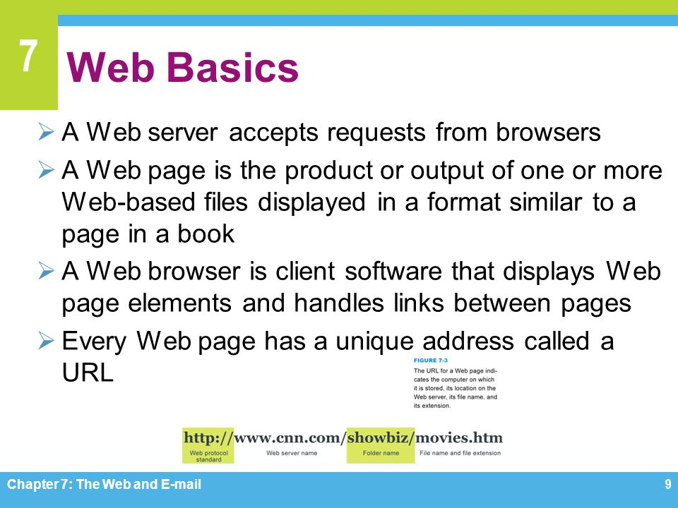 Web Basics A Web server accepts requests from browsers