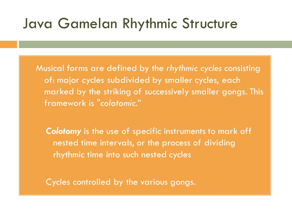 Java Gamelan Rhythmic Structure