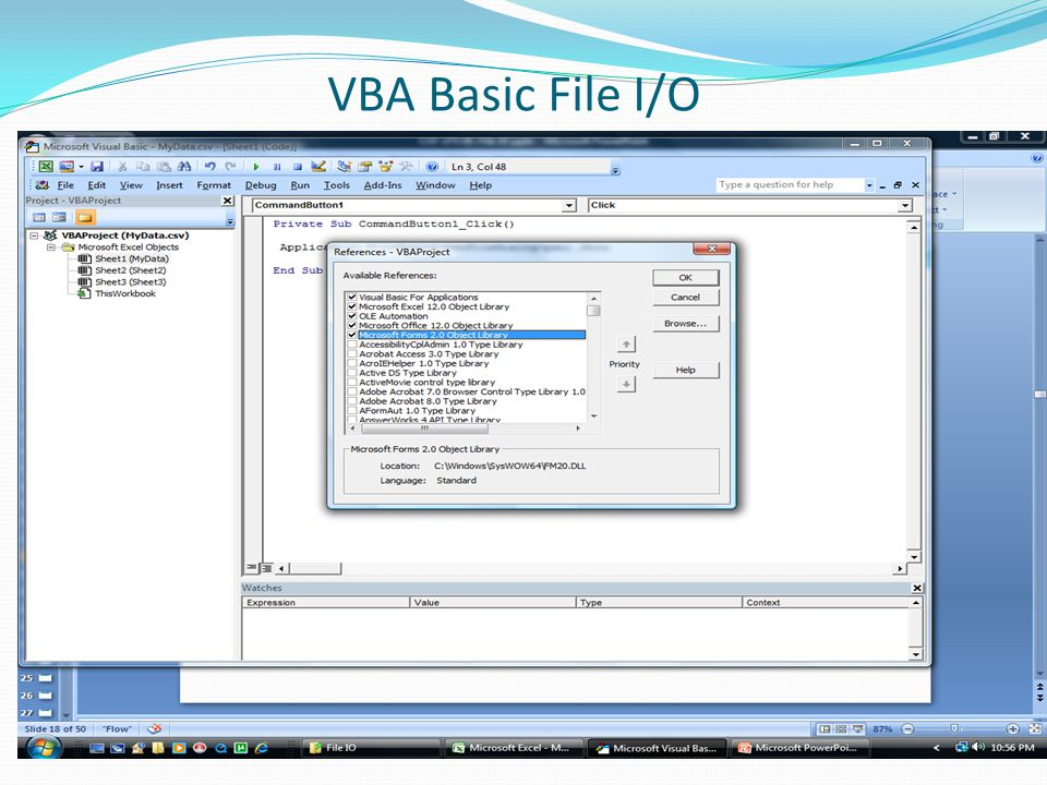 VBA Basic File I/O