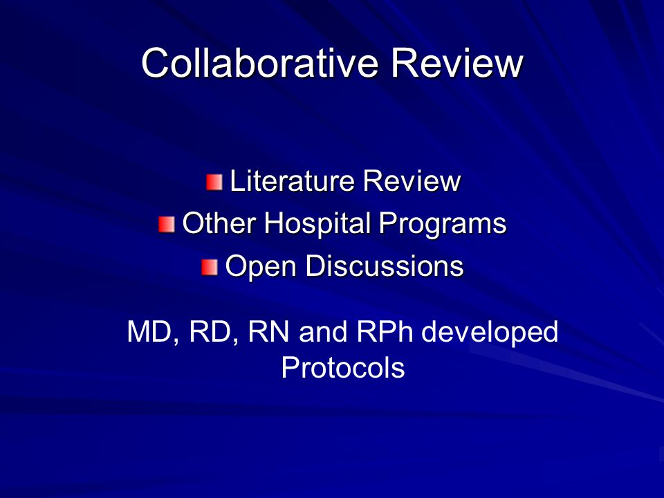 Collaborative Review Literature Review Other Hospital Programs