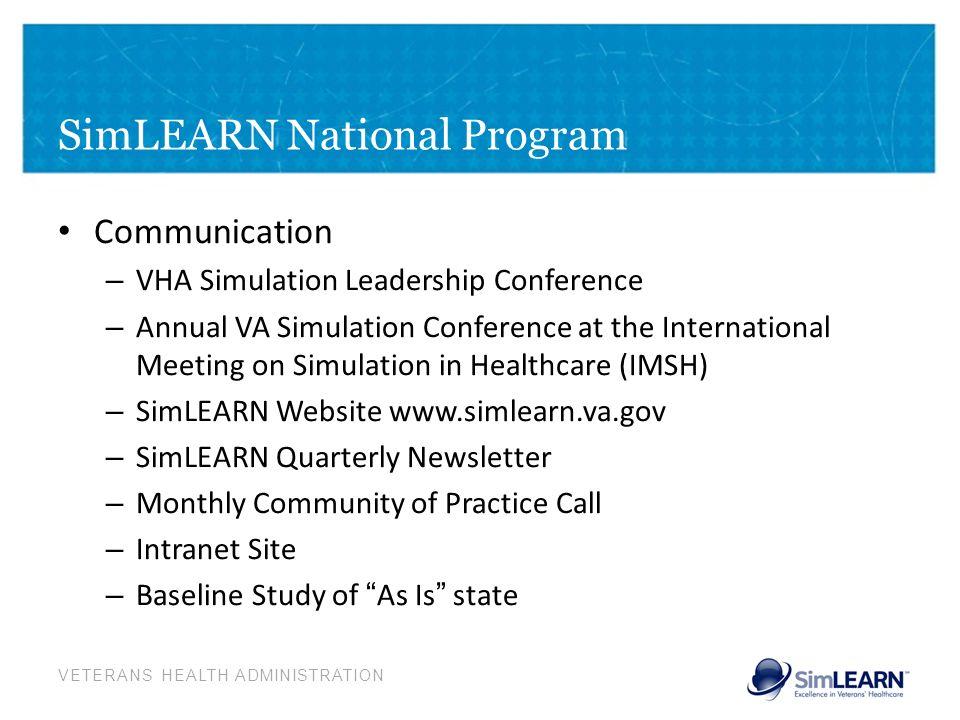 SimLEARN National Program