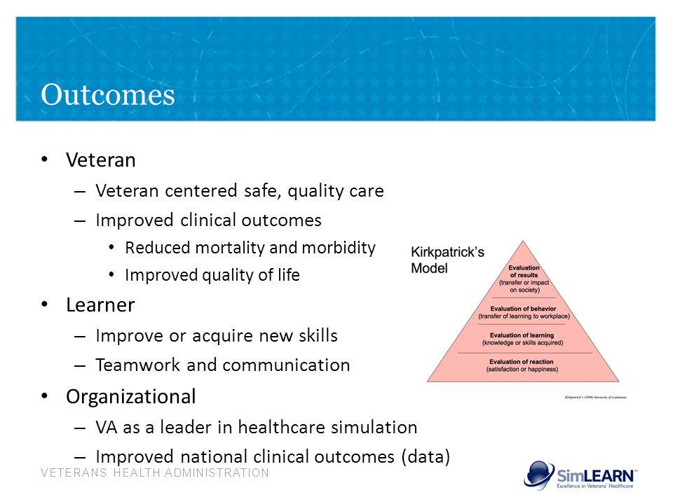 Outcomes Veteran Learner Organizational