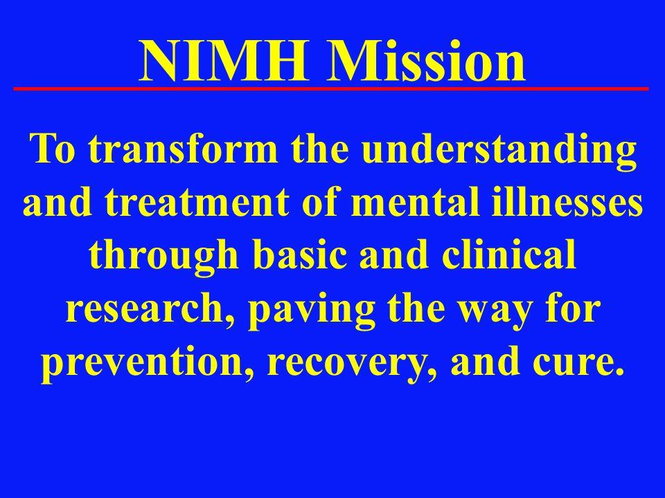 NIMH Mission