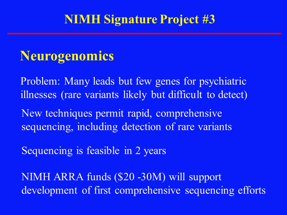 NIMH Signature Project #3