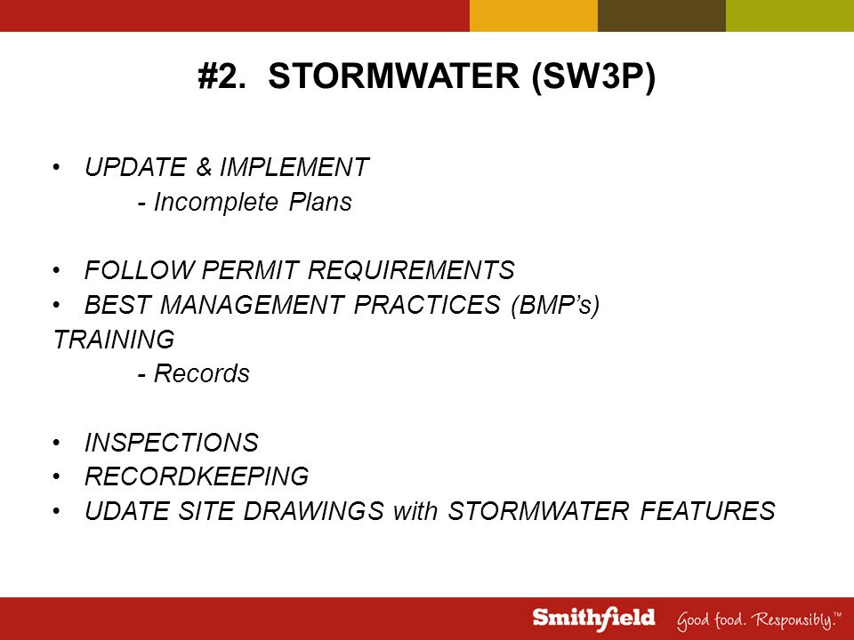 #2. STORMWATER (SW3P) UPDATE & IMPLEMENT - Incomplete Plans