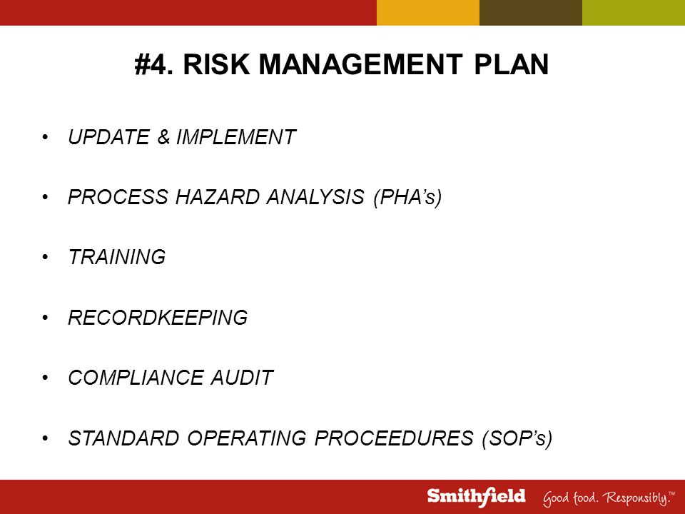 #4. RISK MANAGEMENT PLAN UPDATE & IMPLEMENT