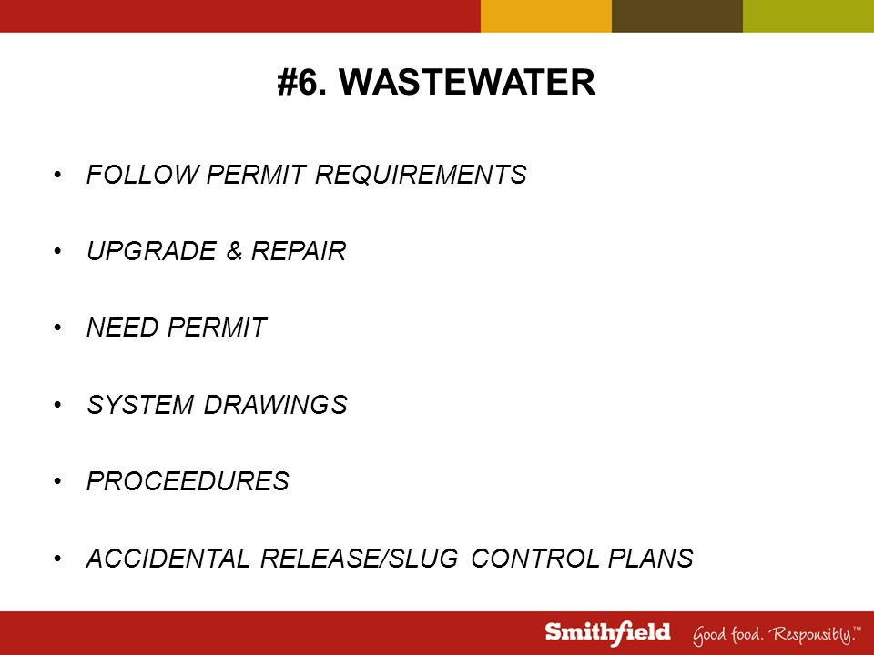 #6. WASTEWATER FOLLOW PERMIT REQUIREMENTS UPGRADE & REPAIR NEED PERMIT