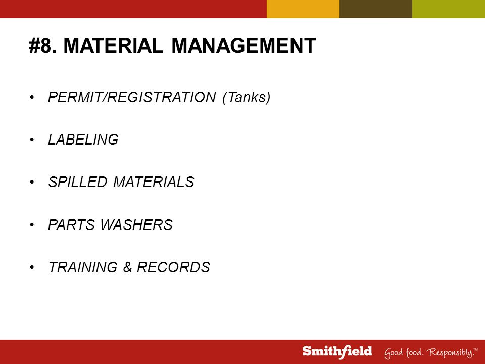 #8. MATERIAL MANAGEMENT PERMIT/REGISTRATION (Tanks) LABELING