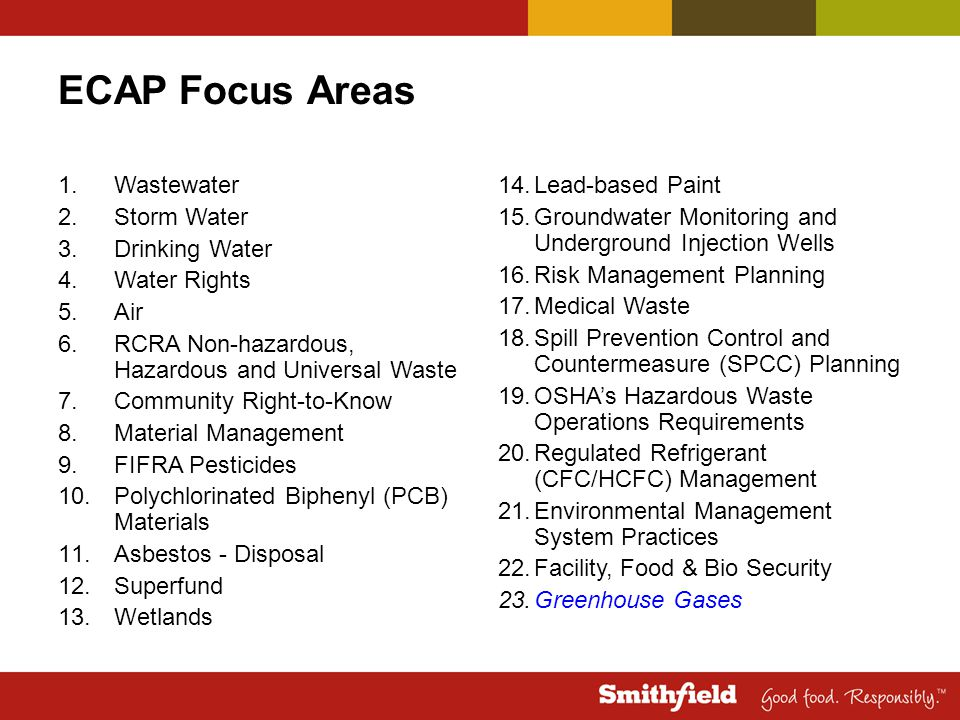 ECAP Focus Areas Wastewater Storm Water Drinking Water Water Rights