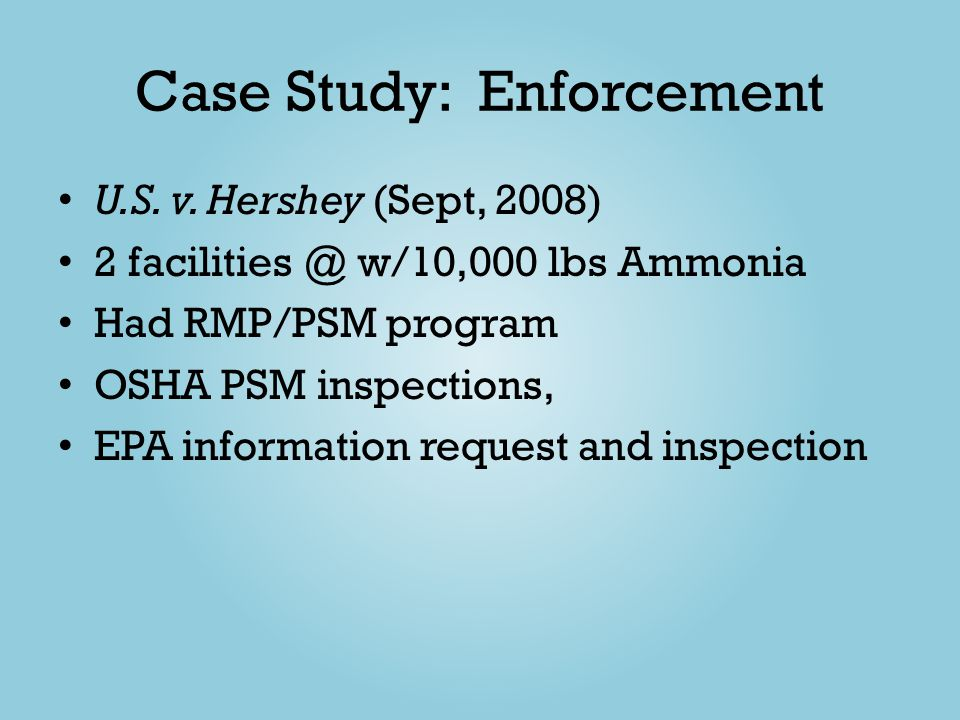 Case Study: Enforcement