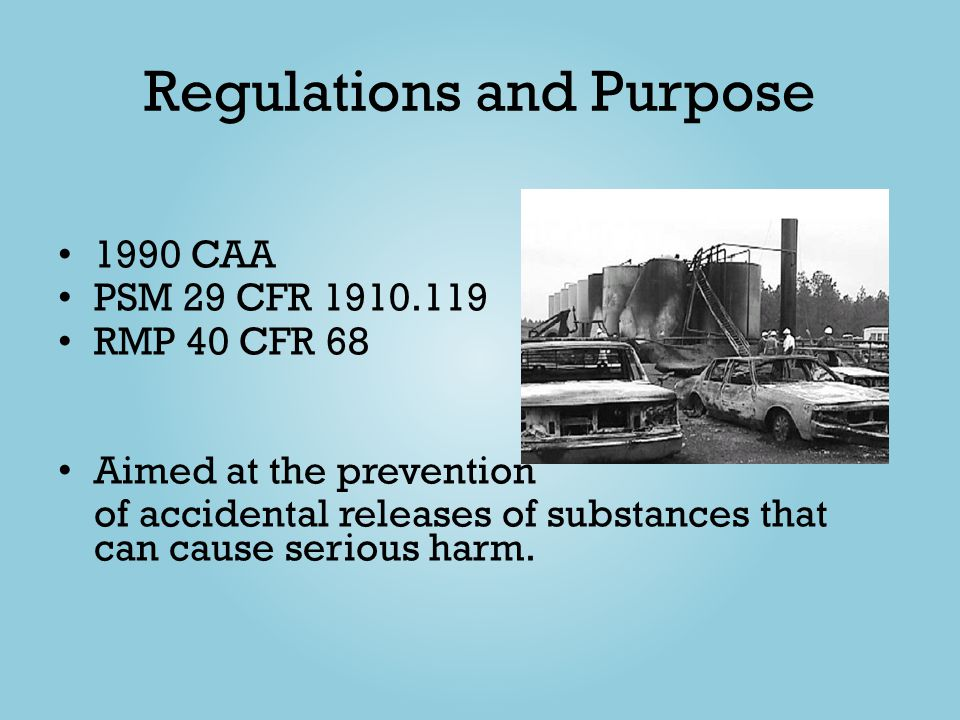 Regulations and Purpose