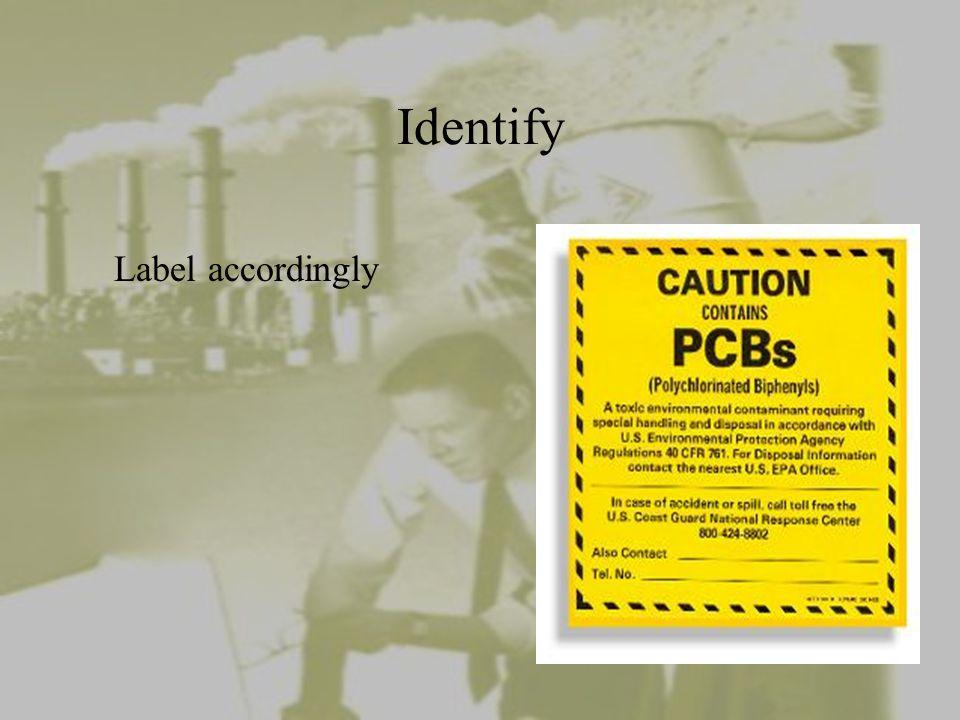 Identify Label accordingly