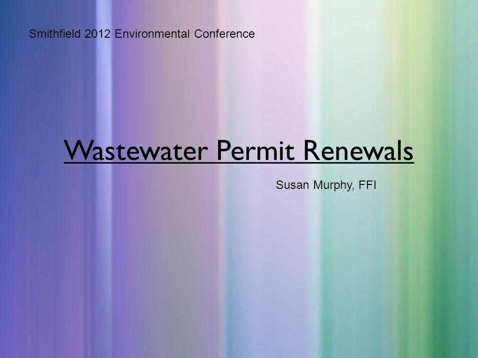 Wastewater Permit Renewals