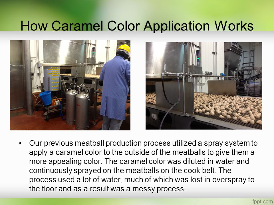 How Caramel Color Application Works
