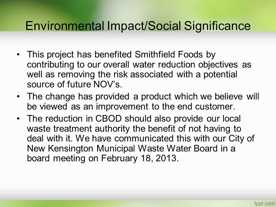 Environmental Impact/Social Significance