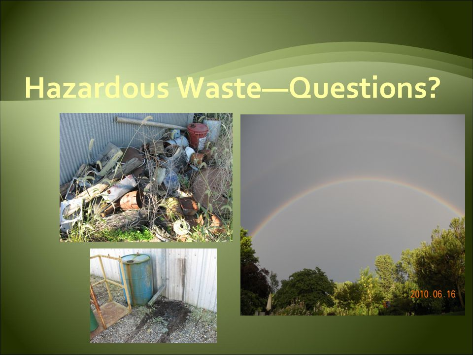 Hazardous Waste—Questions