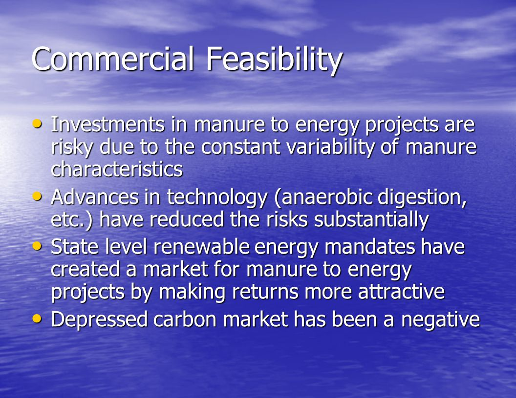 Commercial Feasibility