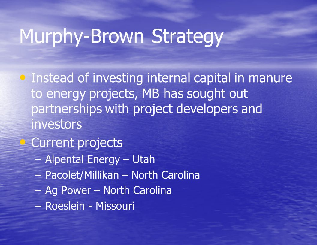 Murphy-Brown Strategy