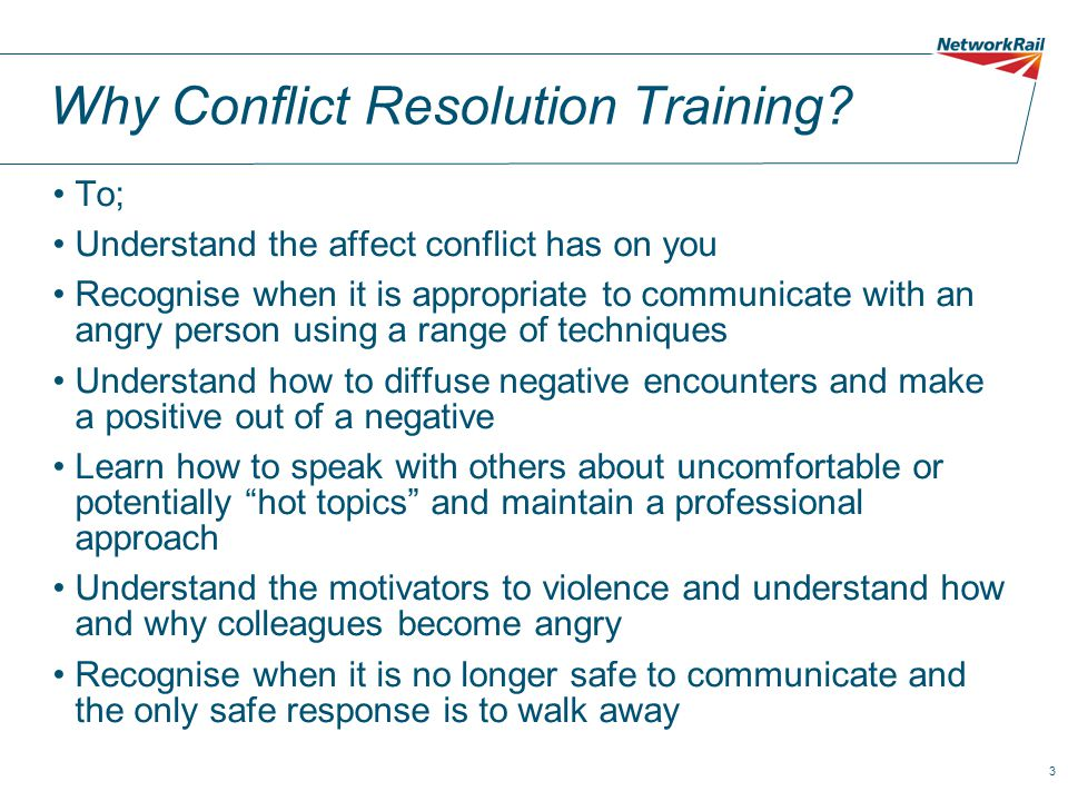 Why Conflict Resolution Training