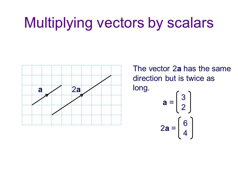 Multiplying vectors by scalars
