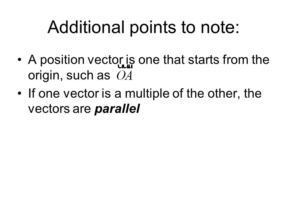 Additional points to note: