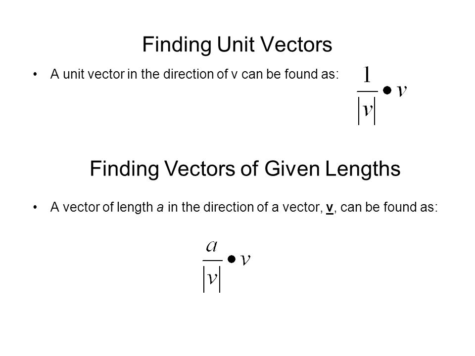 Finding Vectors of Given Lengths