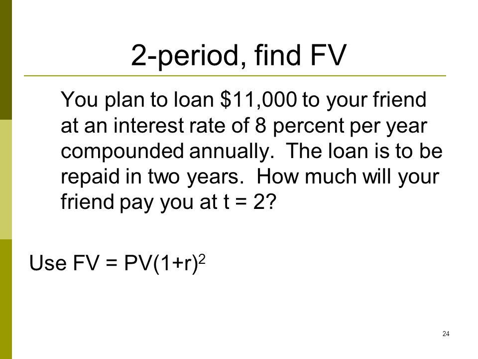2-period, find FV