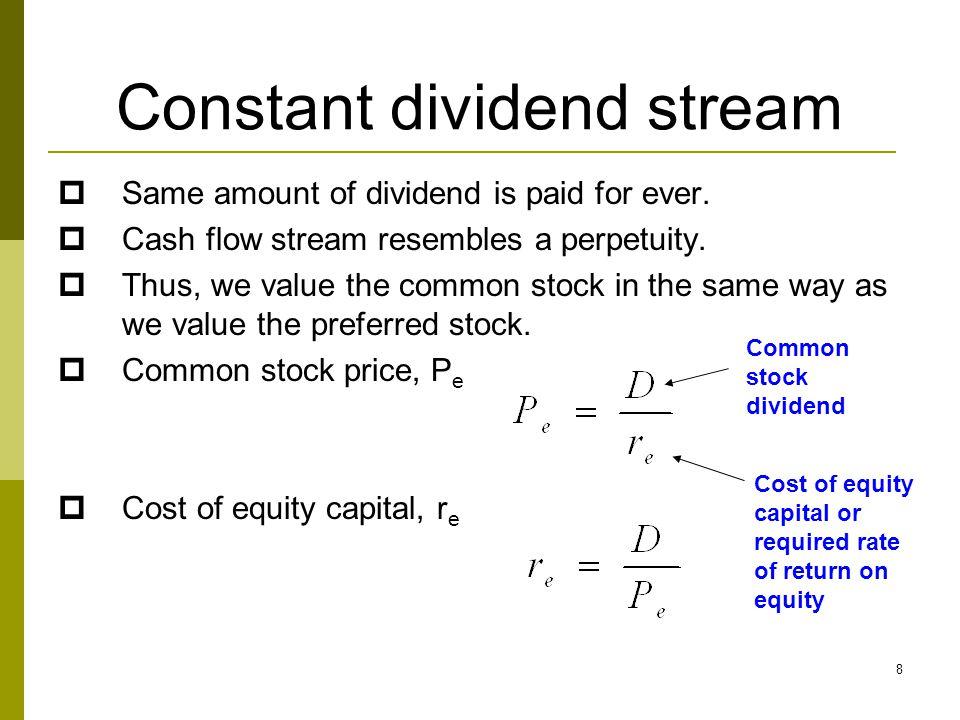Constant dividend stream