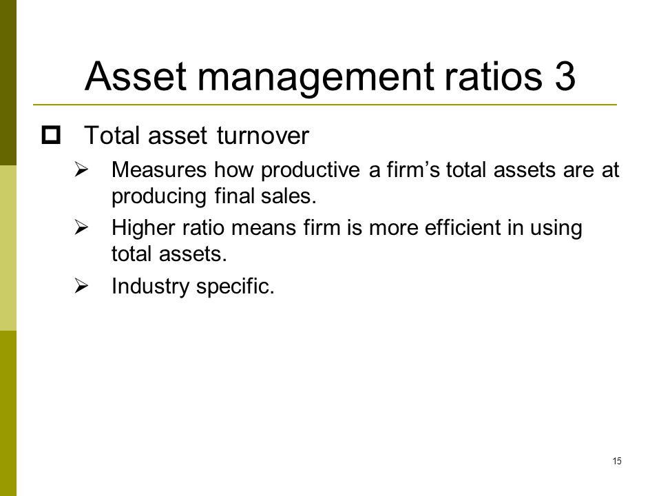 Asset management ratios 3