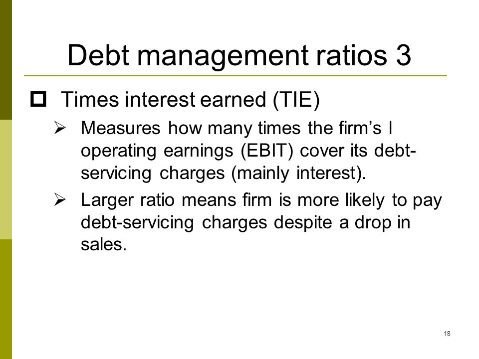 Debt management ratios 3
