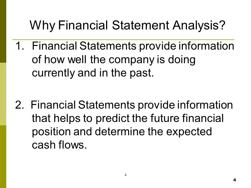 Why Financial Statement Analysis