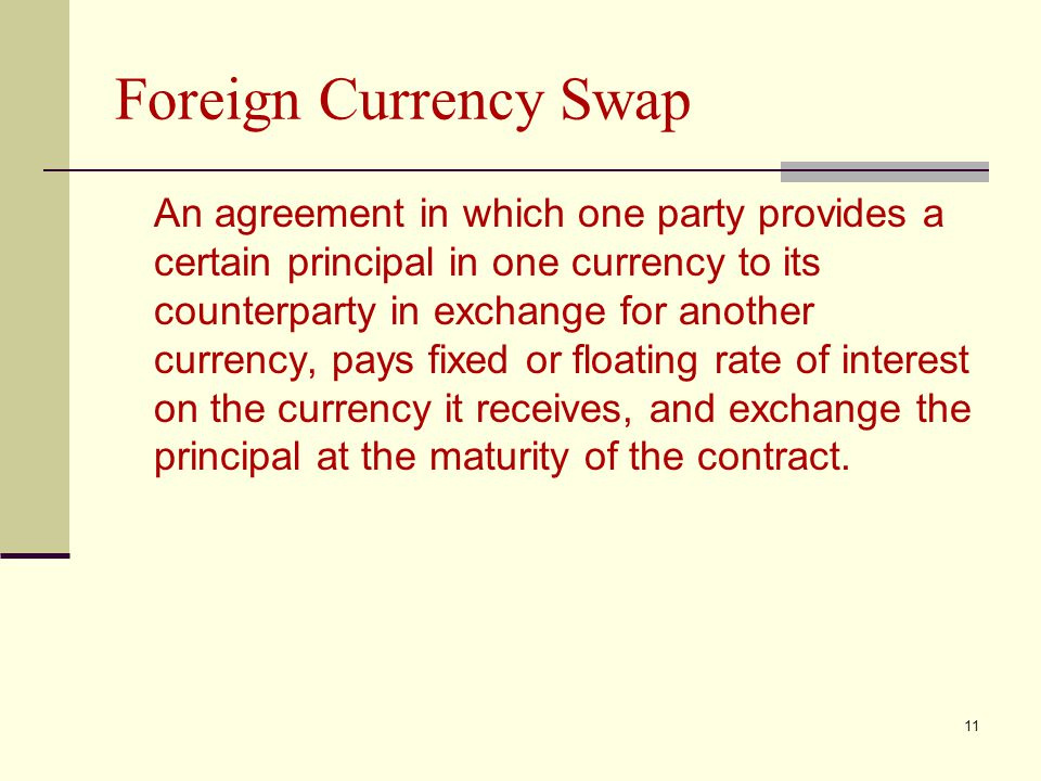 Foreign Currency Swap