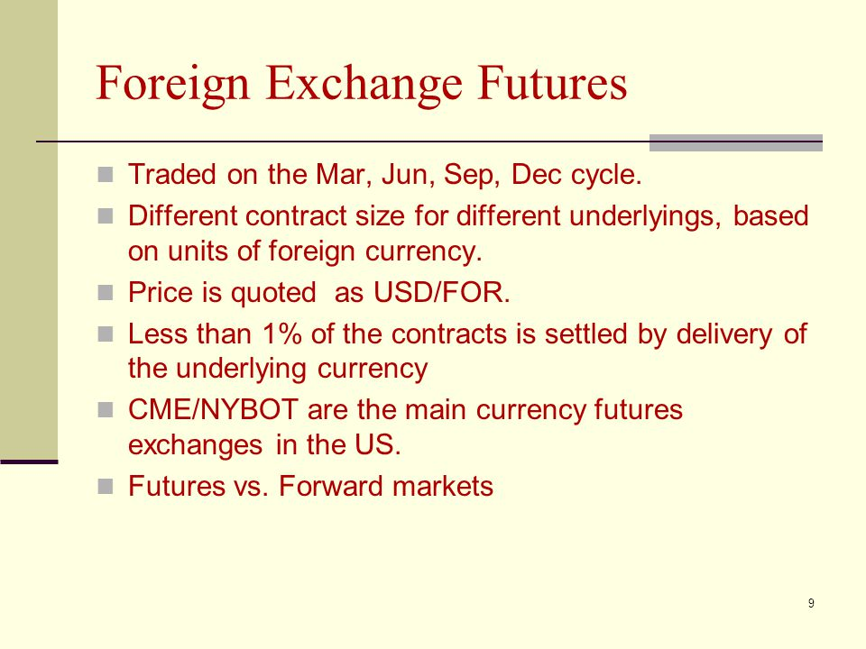 Foreign Exchange Futures