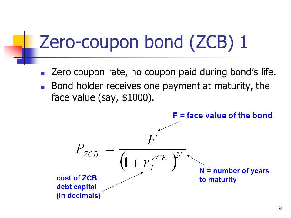 Zero-coupon bond (ZCB) 1