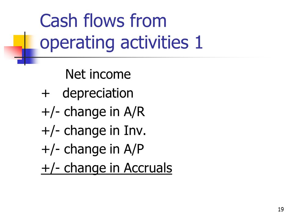 Cash flows from operating activities 1